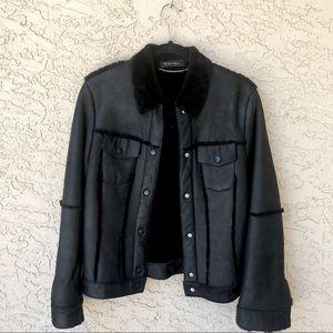 Escada 100% Black lambskin shearling jacket